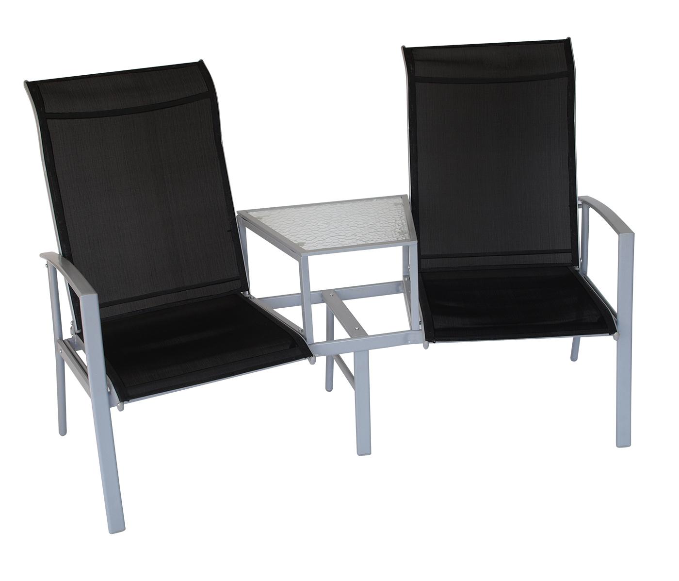 Doppelbank Meran mit Tisch 2-Sitzer Garten Terrasse Balkon Möbel   eBay
