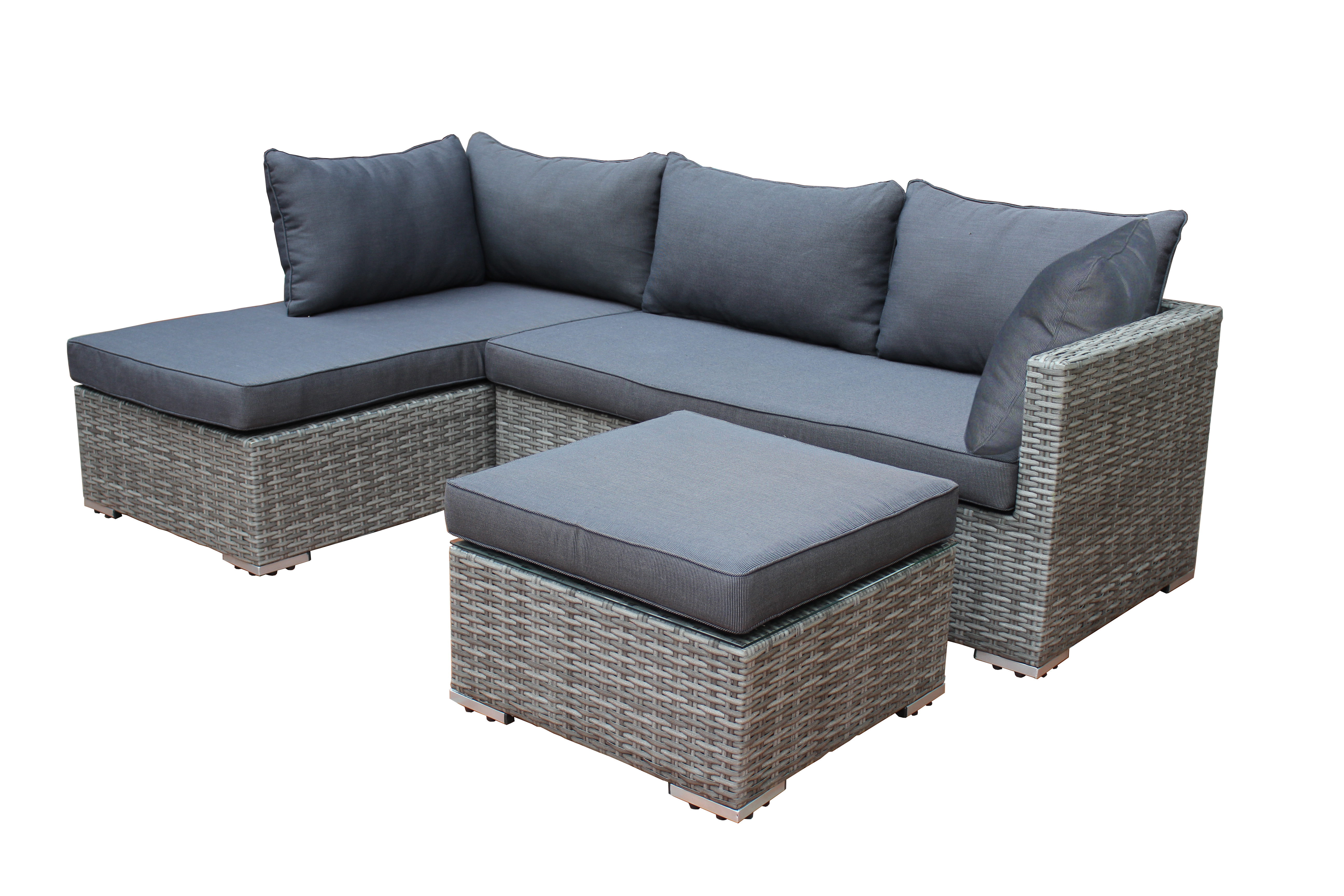 lounge set viletta 3 teilig gartenset balkonset garten terrasse balkon outdoor ebay. Black Bedroom Furniture Sets. Home Design Ideas