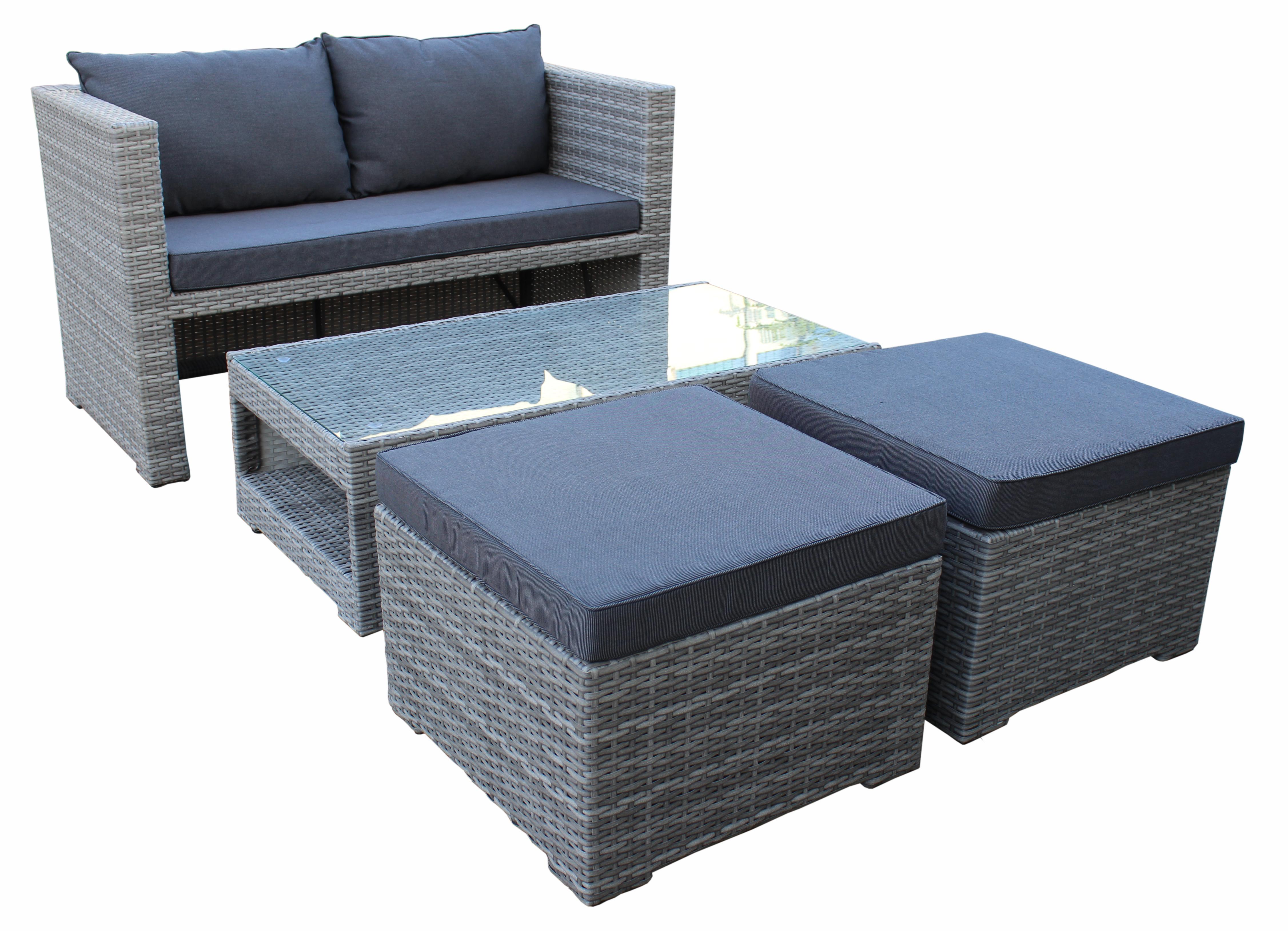 lounge set fiorino 4 teilig balkonset gartenset. Black Bedroom Furniture Sets. Home Design Ideas