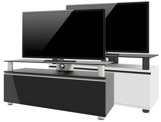 vcm tv lowboard clano mit overboard hifi tisch tv led 2 farben. Black Bedroom Furniture Sets. Home Design Ideas