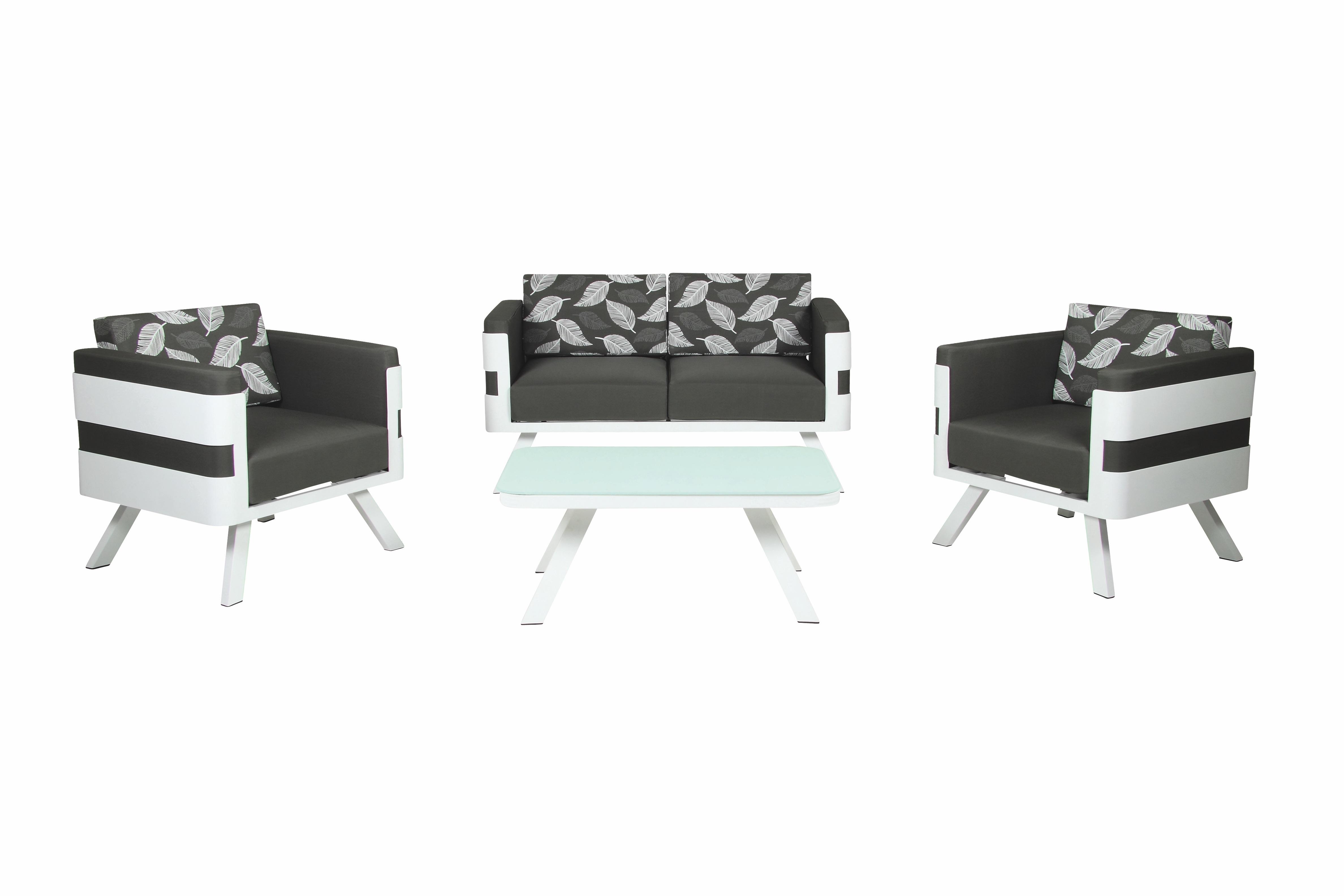 57630 acamp monaco lounge set 4 teilig balkonset terrasse. Black Bedroom Furniture Sets. Home Design Ideas