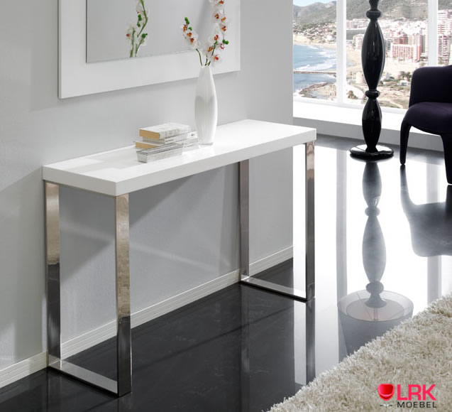 con 02 dupen design konsolentisch hochglanz konsole tisch flur diele hgl wei ebay. Black Bedroom Furniture Sets. Home Design Ideas
