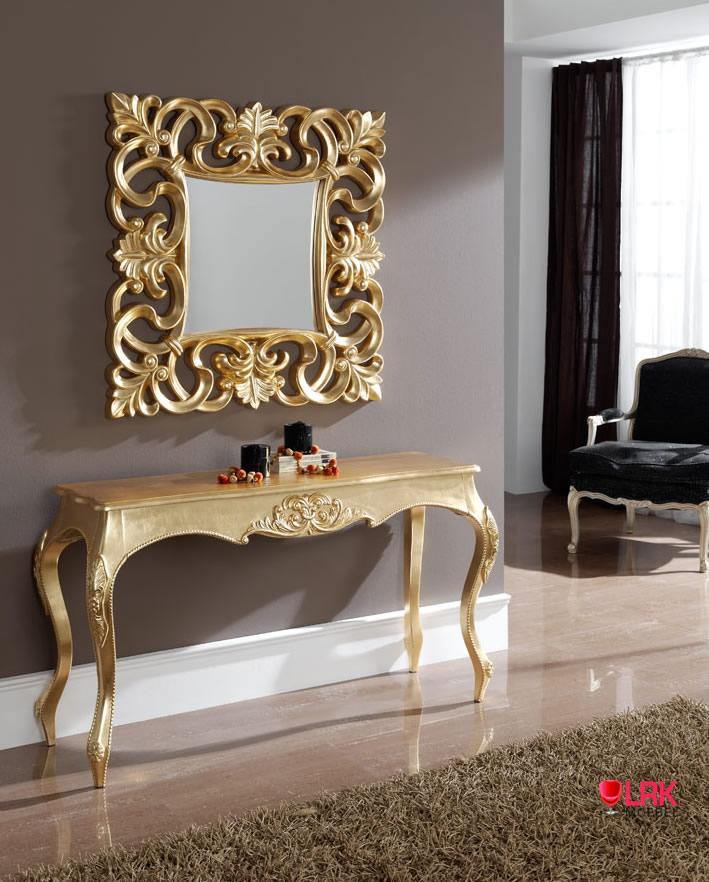 k57 antique optik konsole konsolentisch tisch barock ornament m bel 2 farben. Black Bedroom Furniture Sets. Home Design Ideas