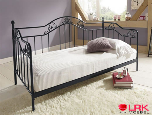 metallbett 9108 hofmann bett schlafsofa bettgestell bettrahmen metall 2 farben ebay. Black Bedroom Furniture Sets. Home Design Ideas